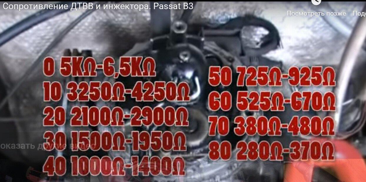Сопротивления ДТВВ и инжектора. Passat B3.jpg